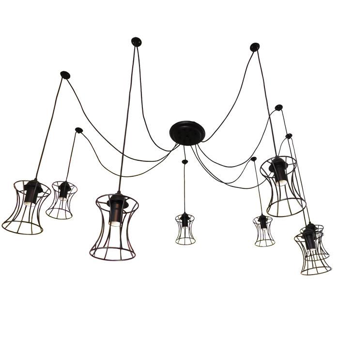 """Подвесной металлический светильник, современный стиль, loft, vintage, modern style """"SPRUT"""" Е27  черный цвет"""