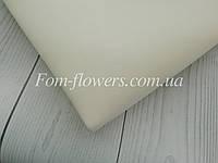 Зефирно-шелковый фоамиран, айвори, 50х50 см.