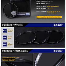 Нейтрально-серый светофильтр ZOMEI 77 мм ND4, фото 2