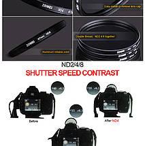 Нейтрально-серый светофильтр ZOMEI 77 мм ND4, фото 3
