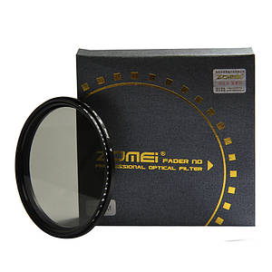 Нейтрально-сірий світлофільтр ZOMEI зі змінною щільністю 77 мм ND2 - ND400