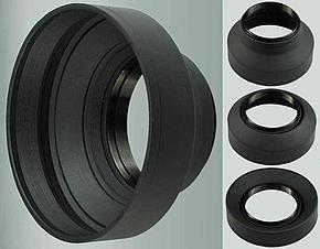 Универсальная резиновая бленда 72 мм - складная 3 в 1