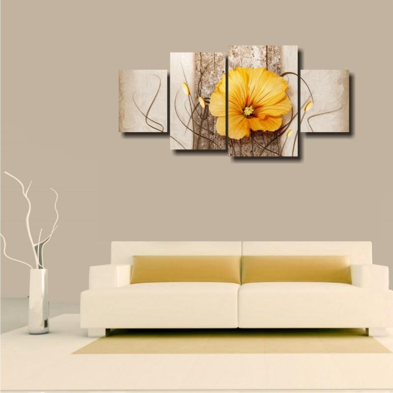 """Модульна картина на полотні """"Помаранчевий квітка"""""""