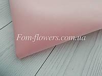 Зефирно-шелковый фоамиран, винтажный розовый, 50х50 см.