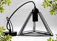 """Подвесной металлический светильник, современный стиль, loft, vintage, modern style """"PYRAMID"""" Е27 черный цвет, фото 1"""