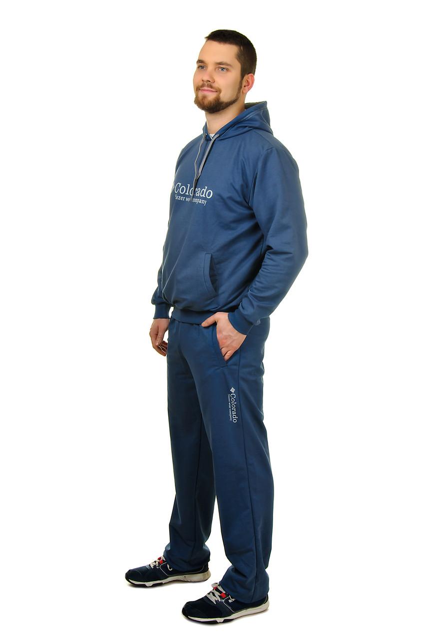 Чоловічий спортивний костюми з трикотажу c кишенею кенгуру Colorado 50-52