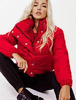 Красная короткая куртка Осень 2019, фото 1