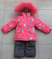 Зимний детский комбинезон раздельный на девочку 80 размер