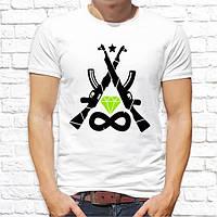 Мужская футболка Push IT с принтом Автоматы