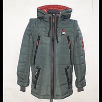 Куртка жилетка для хлопчиків 2 в 1 з отстежными рукавами М-11