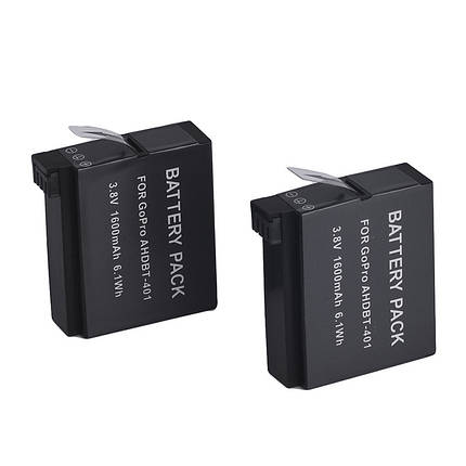 Аккумулятор AHDBT-401 для GoPro Hero 4 - аналог 1600 ma, фото 2