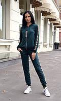 Модный женский спортивный костюм кофта на молнии, фото 1
