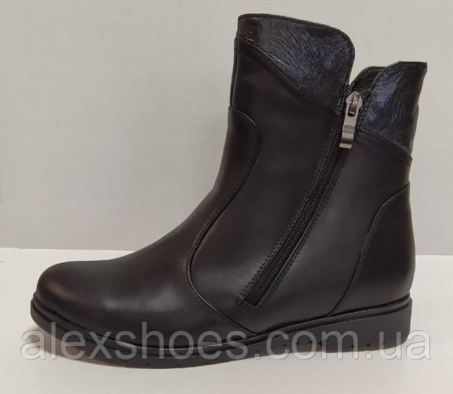 Ботинки женские на низком ходу из натуральной кожи от производителя модель РБ077Б