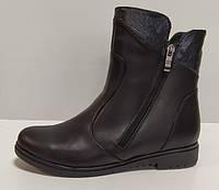 Ботинки женские на низком ходу из натуральной кожи от производителя модель РБ077Б, фото 1