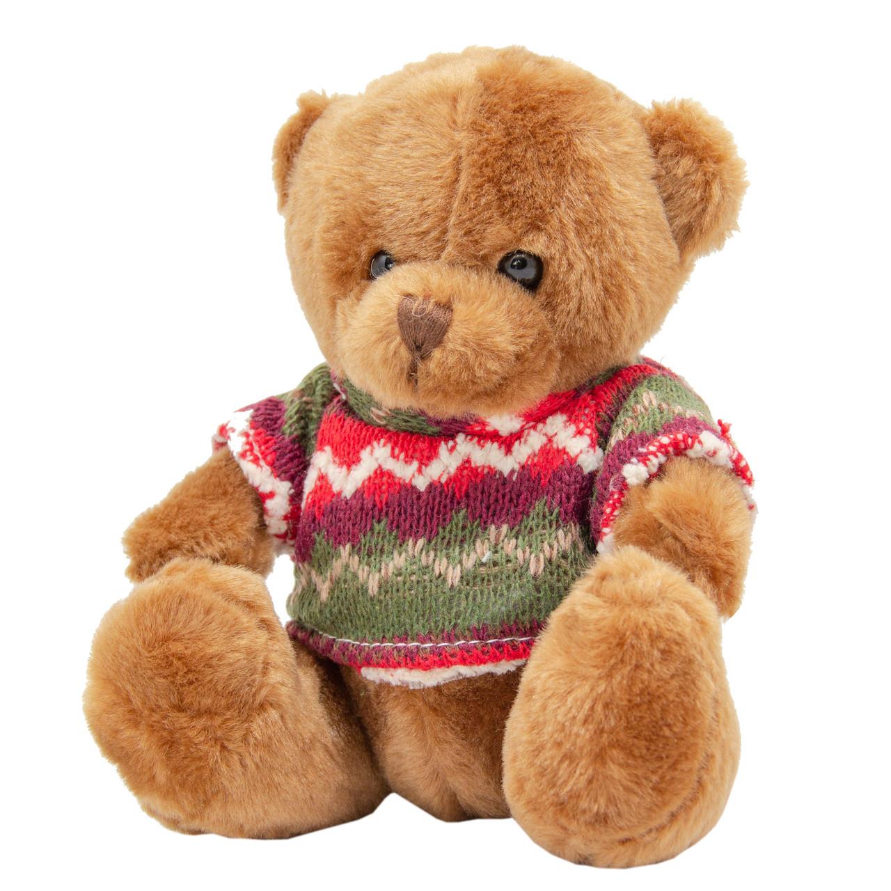 Медвежонок в свитере, 15 см, коричневый.)
