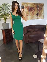 Платье-футляр с чашечками зеленого цвета