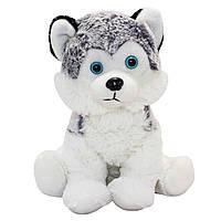 Мягкая игрушка - хаски, 23 см, белый, мех искуственный (164656/3)