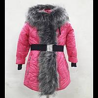 Куртка пальто для девочек зимняя Д-10