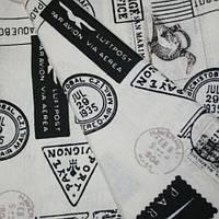 Декор почтовые марки черн/бел.