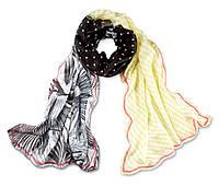 Комбинированный большой шарф шаль размер 79 на 193 см Tchibo Германия