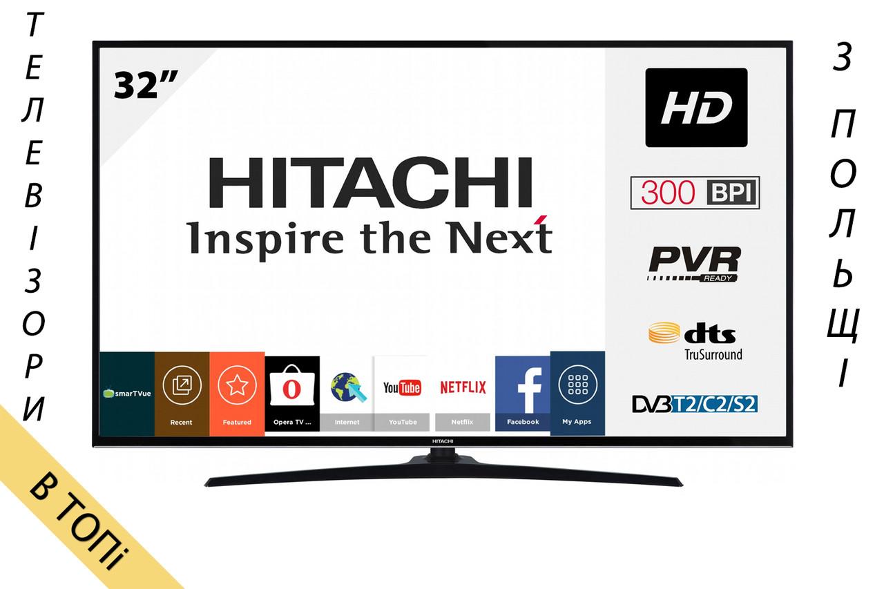 Телевизор HITACHI 32HE2000 Smart TV HD Ready 400Hz T2 S2 из Польши 2018 год ОРИГИНАЛ