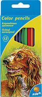 Карандаши цветные Kite , 12 цв., шестигр.