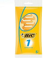 """Одноразовые бритвенные станки """"BIC 1"""" sensitive (5 шт.)"""