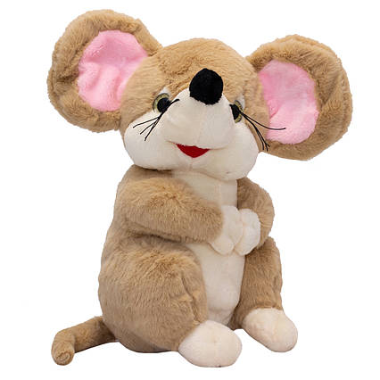 Мягкая игрушка МЫШКА, 22 см, коричневая.
