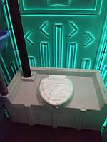 Туалет (биотуалет) с накопительным баком зелёного цвета от производителя