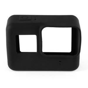 Силиконовый чехол, футляр с крышкой на объектив для экшн камер GoPro Hero 5, 6, 7 - черный (код № XTGP347), фото 2