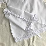 Хрестильний набір 3-ка, набір для хрещення для дівчинки (плаття, косинка, пінетки), фото 4
