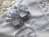 Хрестильний набір 3-ка, набір для хрещення для дівчинки (плаття, косинка, пінетки), фото 5