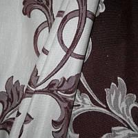 Декор кабрера сливовый фон серый
