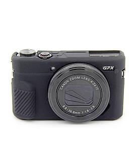 Захисний силіконовий чохол для фотоапаратів CANON G7X Mark II - чорний