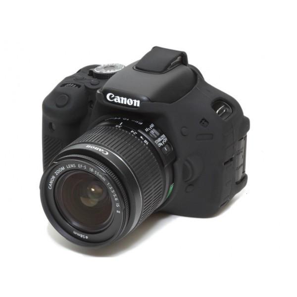 Защитный силиконовый чехол для фотоаппаратов Canon EOS 600D, 650D, 700D  - черный