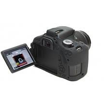 Защитный силиконовый чехол для фотоаппаратов Canon EOS 600D, 650D, 700D  - черный, фото 3