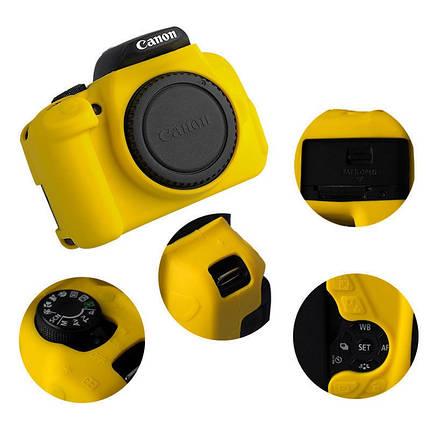 Защитный силиконовый чехол для фотоаппаратов Canon EOS 600D, 650D, 700D  - желтый, фото 2