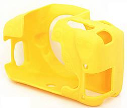 Защитный силиконовый чехол для фотоаппаратов Canon EOS 600D, 650D, 700D  - желтый, фото 3