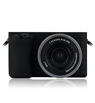 Защитный силиконовый чехол для фотоаппаратов SONY A5000, A5100 - черный, фото 2