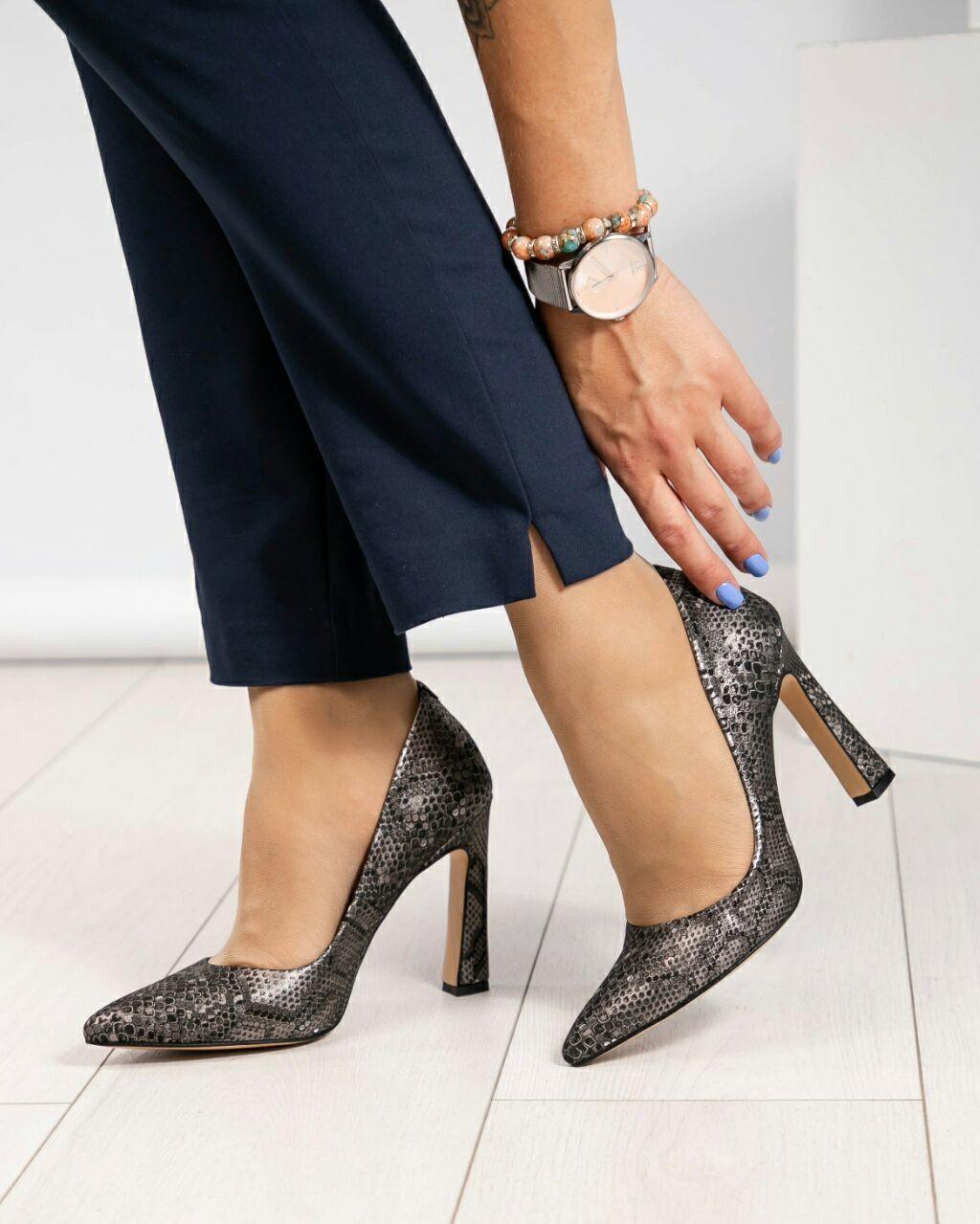 Туфли лодочки на высоком каблуке, Натуральная кожа. Размер 37 39
