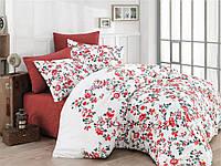 Постельное бельё Cotton Land  сатин ДеЛюкс ЕВРО  Begonia kiremit