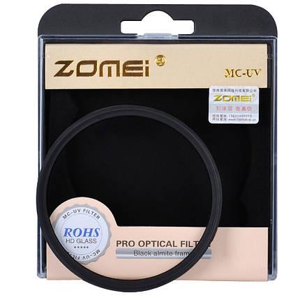 Ультрафиолетовый защитный cветофильтр ZOMEI 62 мм с мультипросветлением MC UV, фото 2