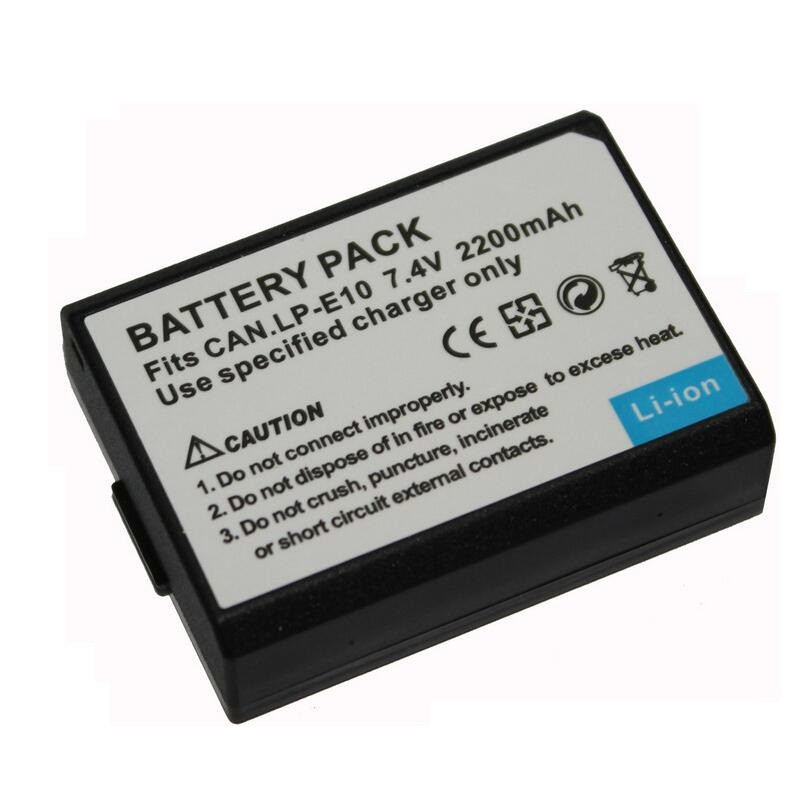 Аккумулятор для фотоаппаратов CANON 1100D, 1200D, 1300D - LP-E10 - 2200 ma