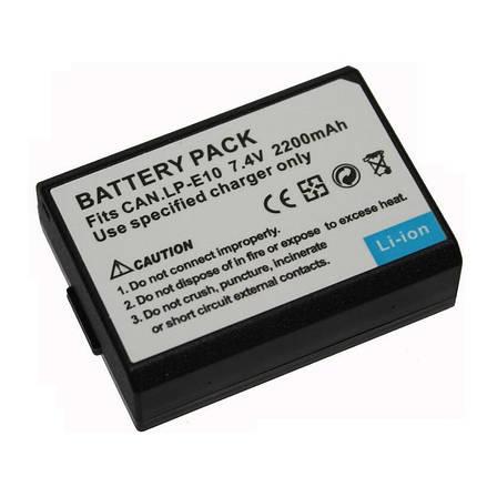 Аккумулятор для фотоаппаратов CANON 1100D, 1200D, 1300D - LP-E10 - 2200 ma, фото 2