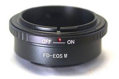 Адаптер (переходник) FD - CANON EOS M (для беззеркальных камер - байонетом EOS M) для EOS M, M3, M10, M5, M6