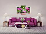 Модульная картина на холсте 96х70см Цветы, фото 3