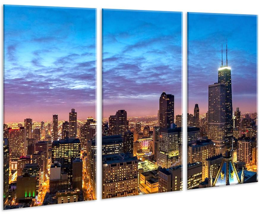 Модульная картина на холсте 96х70см Город