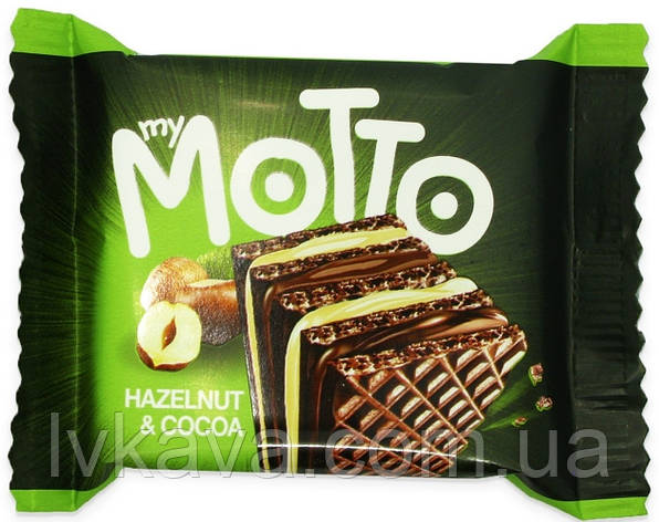 Вафлі My Motto Hazelnut & cocoa , 34 гр, фото 2