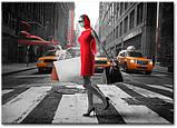 Картина на холсте 50 х 70 см Девушка в красном, фото 2