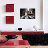 Картина на холсте 50 х 70 см Девушка в красном, фото 3